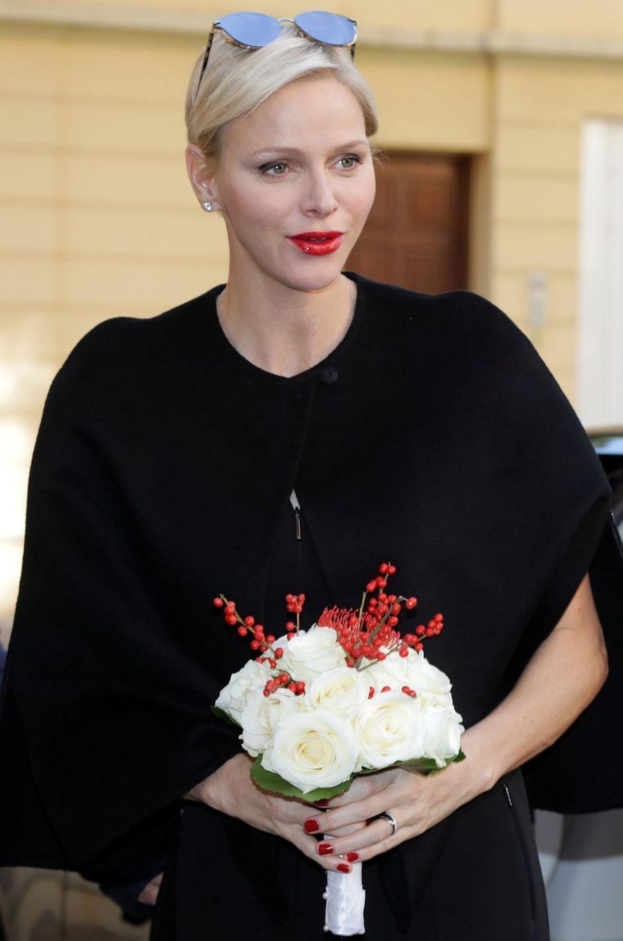 La princesse Charlène de Monaco, à Monaco le 17 novembre 2017