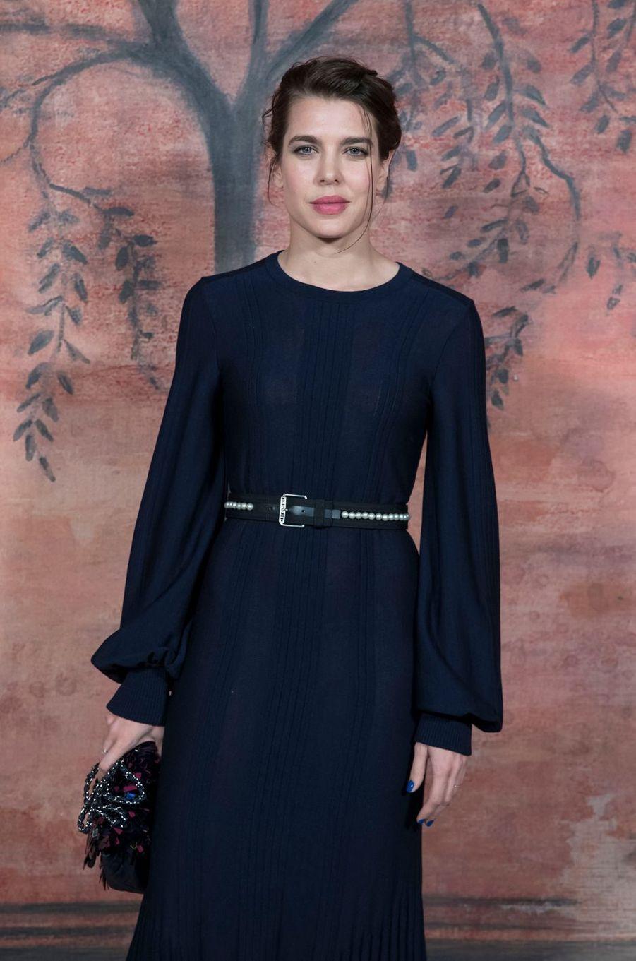 """Charlotte Casiraghi au défilé """"Croisière"""" de Chanel à Paris, le 3 mai 2017"""