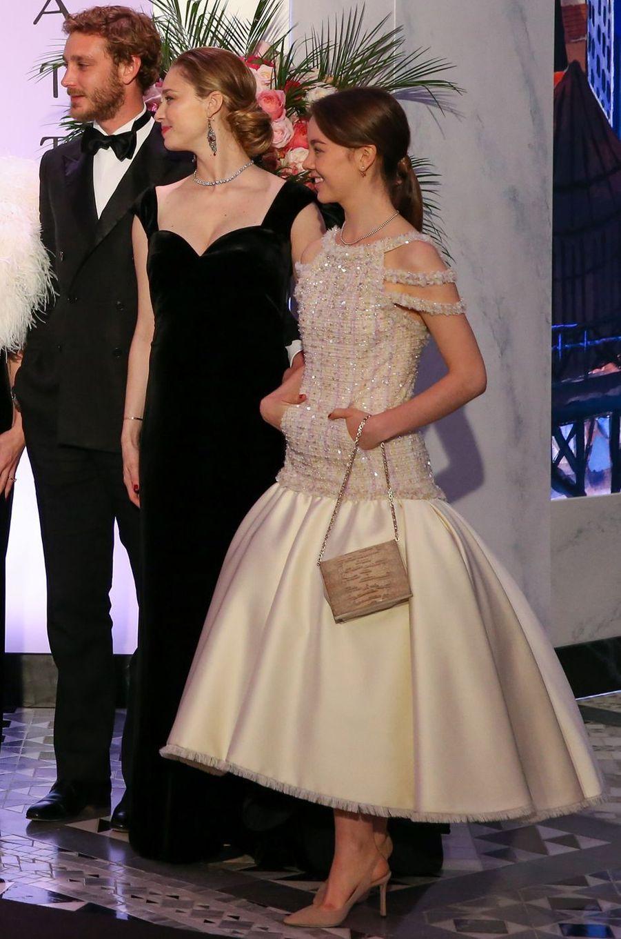 Beatrice Borromeo-Casiraghi et la princesse Alexandra de Hanovre à Monaco, le 24 mars 2018