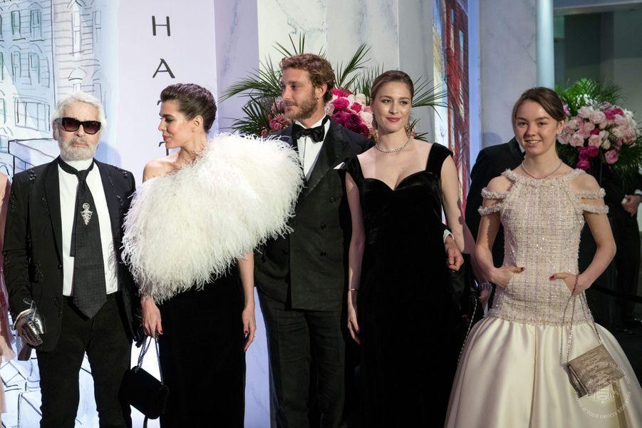 Charlotte Casiraghi, Beatrice Borromeo-Casiraghi et la princesse Alexandra de Hanovre à Monaco, le 24 mars 2018
