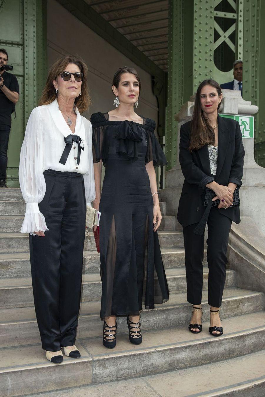 Caroline de Monaco, Charlotte Casiraghi et Tatiana Santo Domingoà Paris, le 20 juin 2019