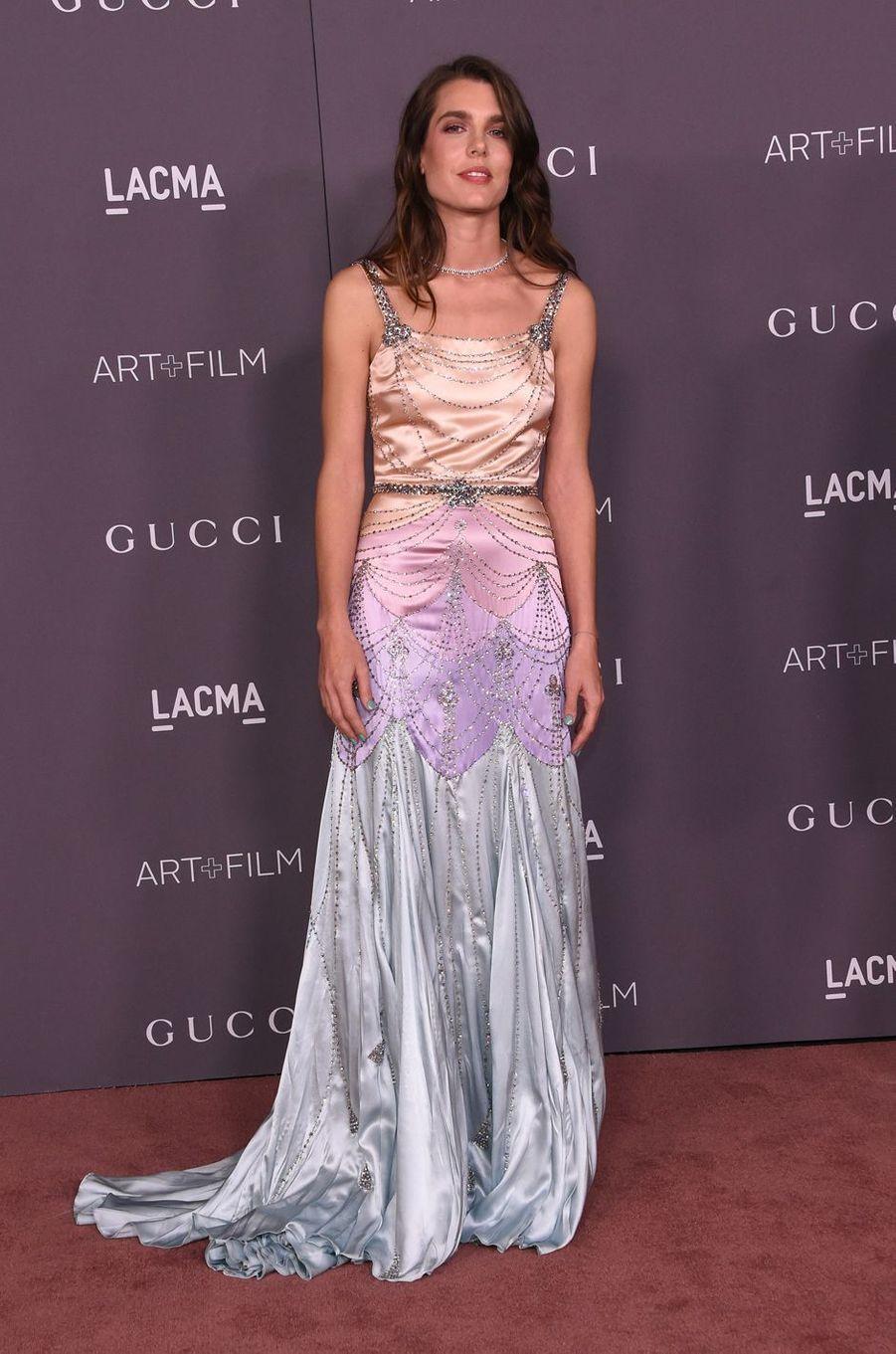 Charlotte Casiraghi en Gucci à Los Angeles, le 4 novembre 2017