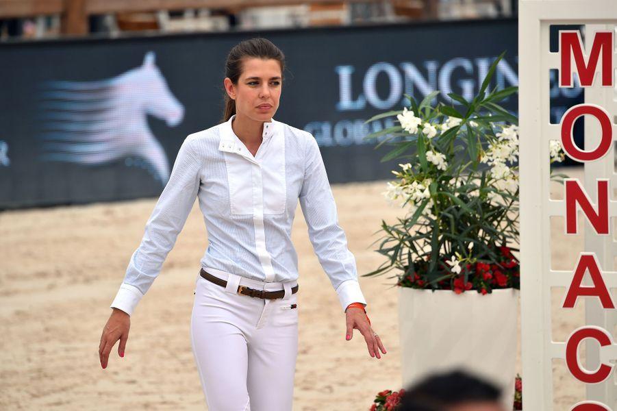 Charlotte Casiraghi au Jumping de Monte-Carlo à Monaco, le 23 juin 2017