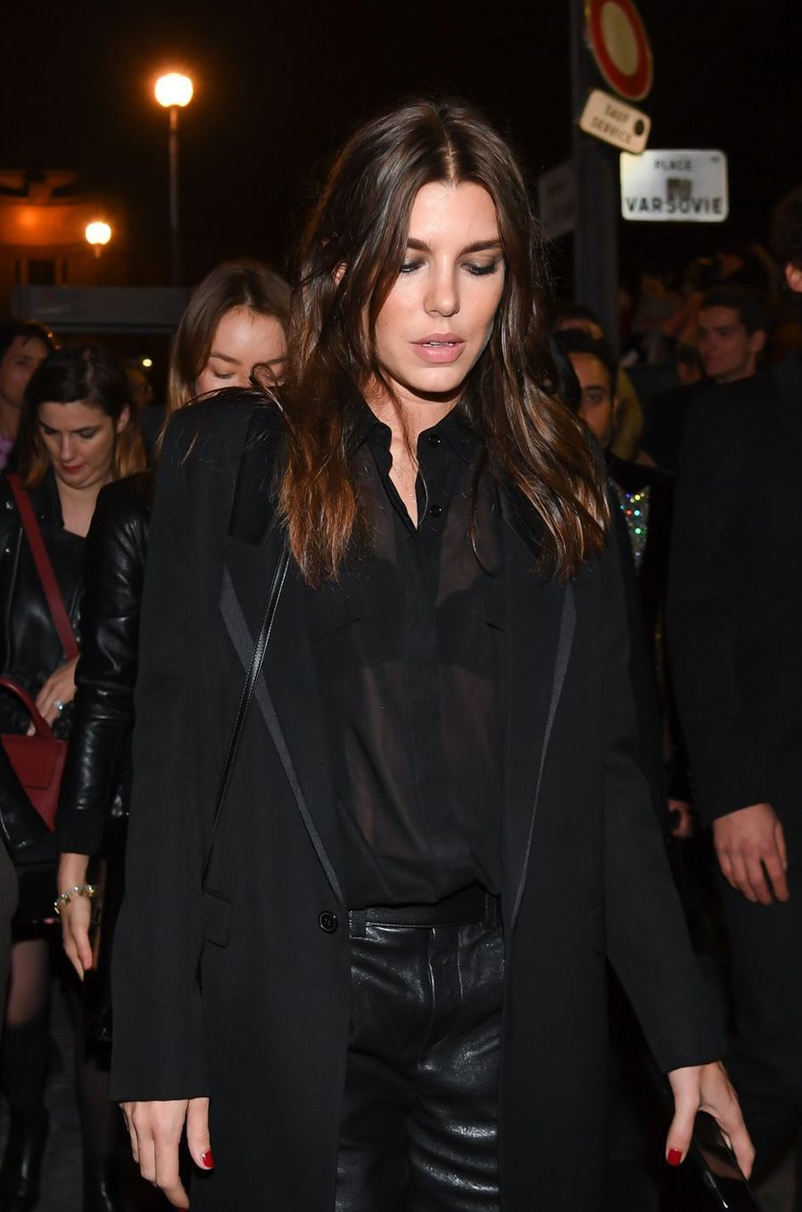 Charlotte Casiraghi au défilé Saint Laurent à Paris, le 26 septembre 2017