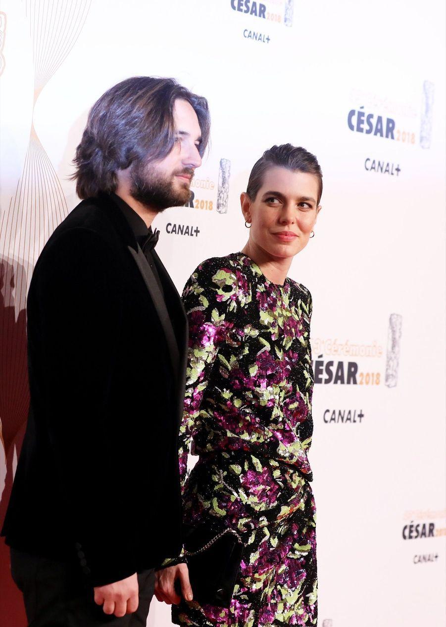 Charlotte Casiraghi Et Dimitri Rassam, En Amoureux Aux César 2018 11