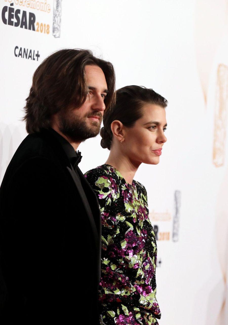 Charlotte Casiraghi Et Dimitri Rassam, En Amoureux Aux César 2018 14