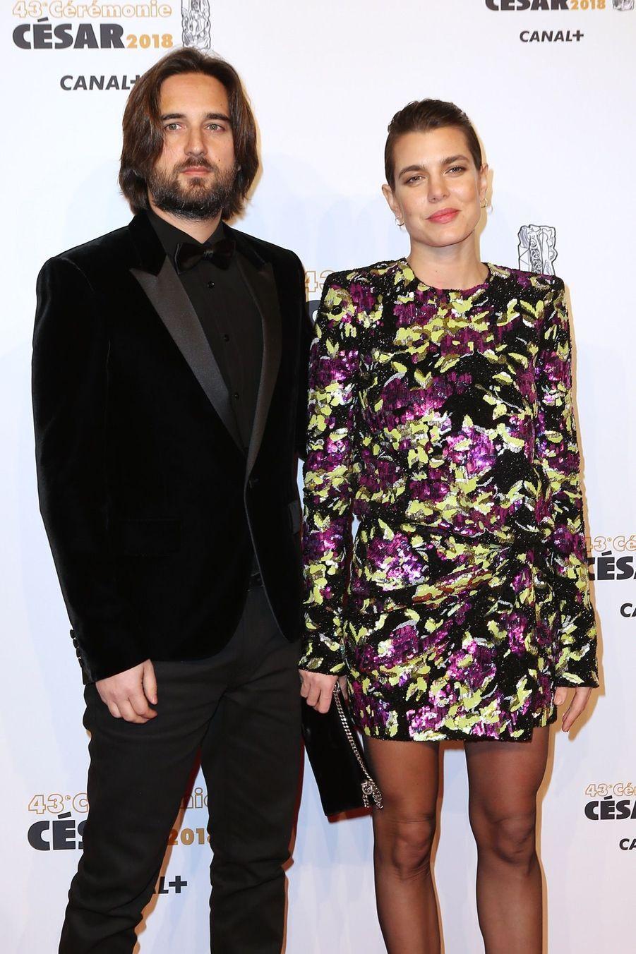 Charlotte Casiraghi Et Dimitri Rassam, En Amoureux Aux César 2018 2