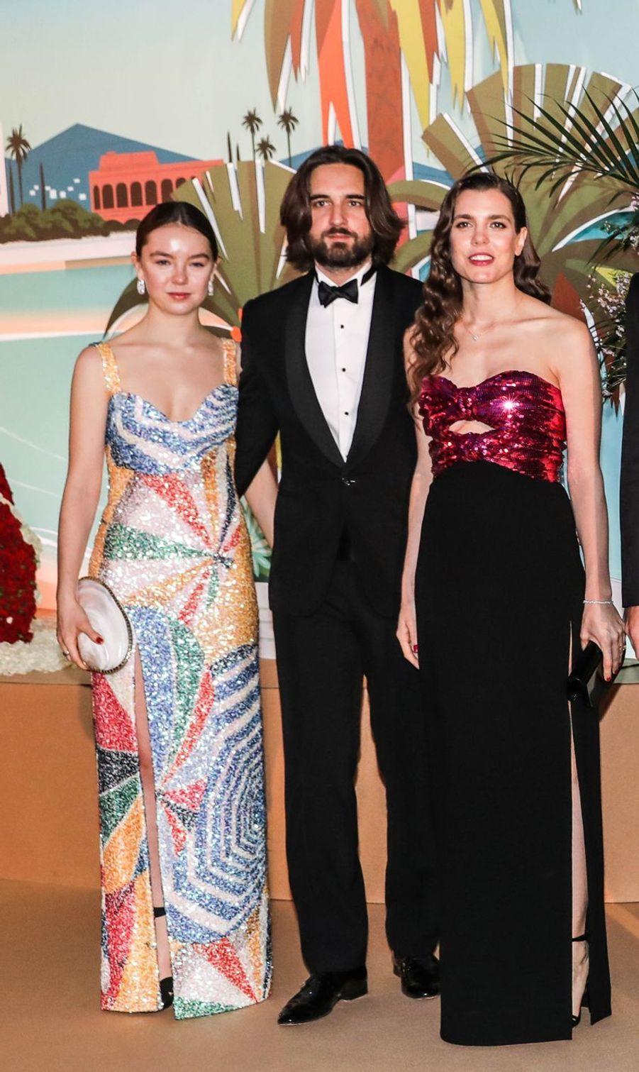 La princesse Alexandra de Hanovre, Charlotte Casiraghi et son compagnon Dimitri Rassam à Monaco, le 30 mars 2019