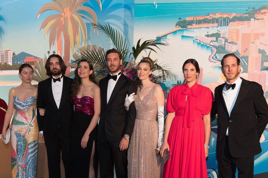 Alexandra de Hanovre, Dimitri Rassam, Charlotte Casiraghi, Pierre Casiraghi,  Beatrice Casiraghi,