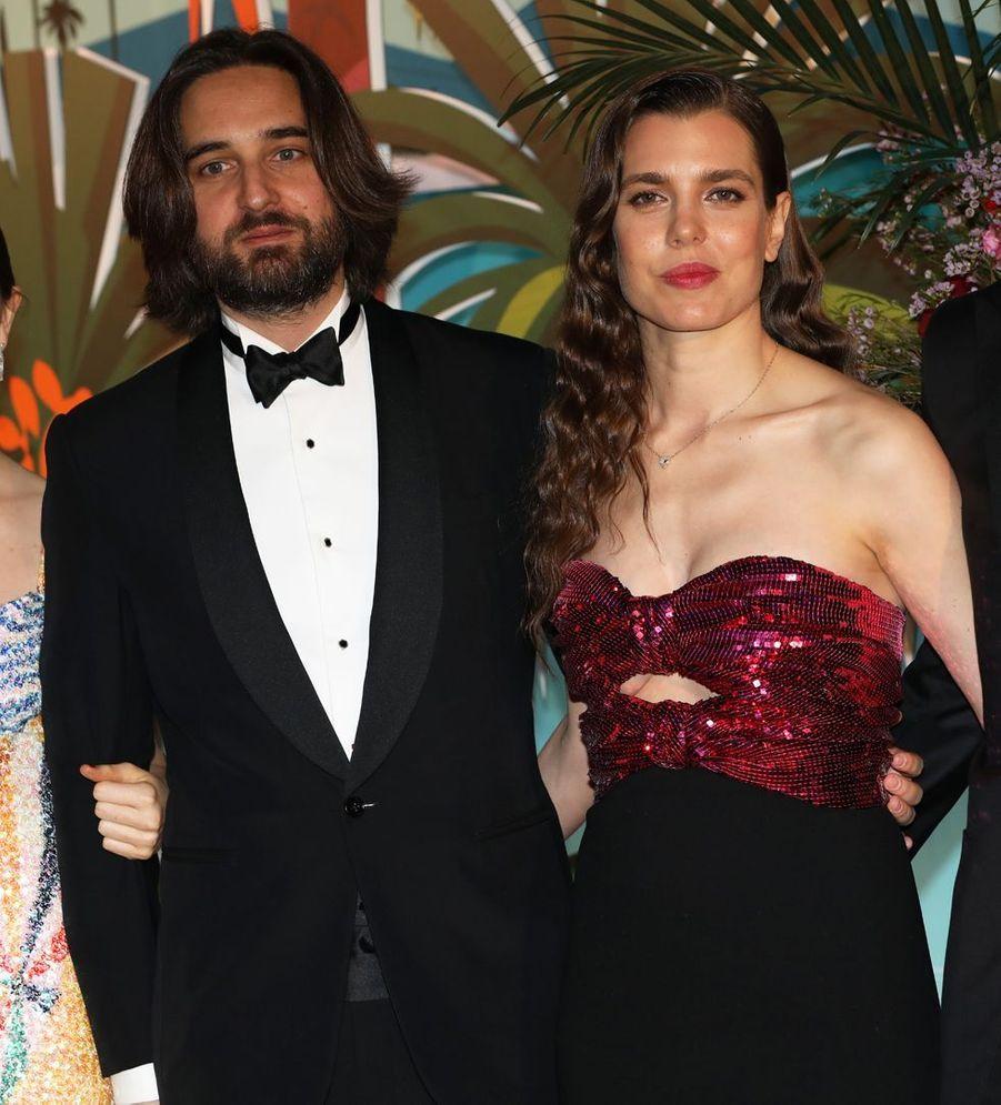 Charlotte Casiraghi et son compagnon Dimitri Rassam à Monaco, le 30 mars 2019