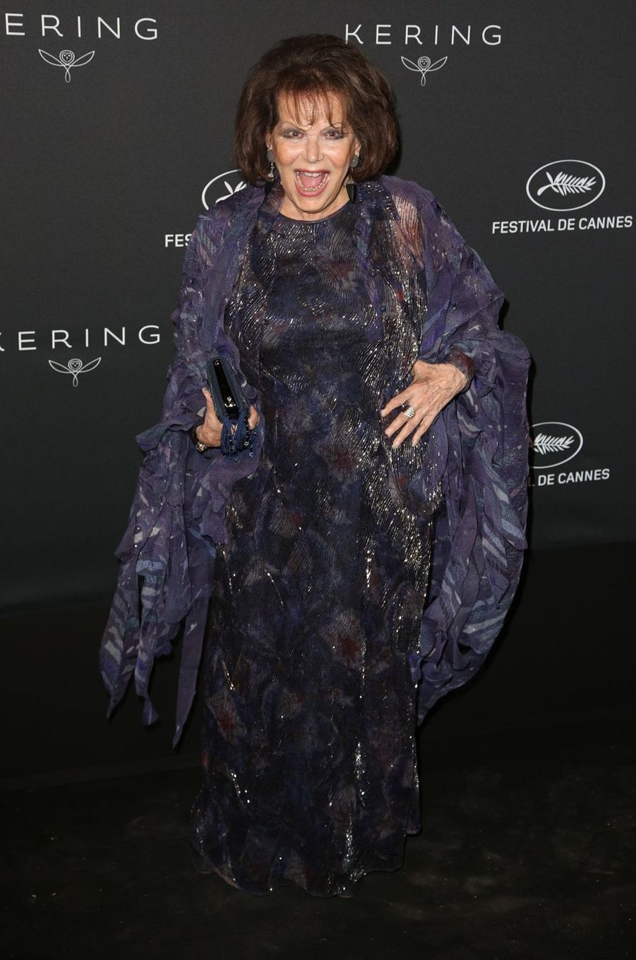 Claudia Cardinale à Cannes, le 21 mai 2017