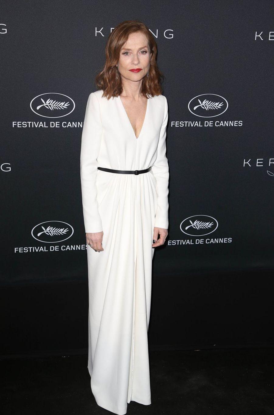 Isabelle Huppert à Cannes, le 21 mai 2017