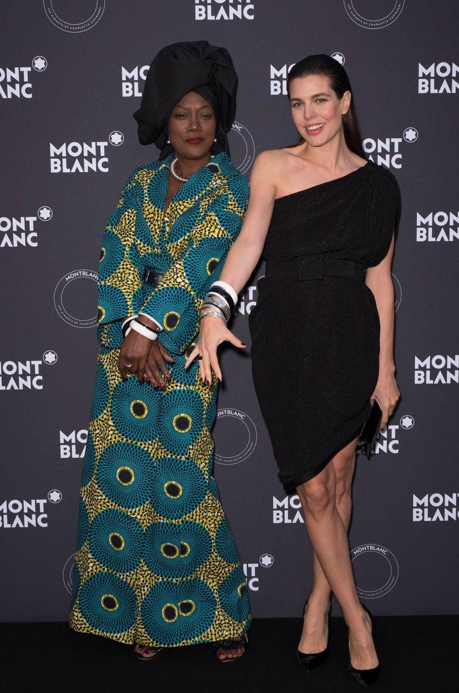 Charlotte Casiraghi avec Khadja Nin à Cannes, le 16 mai 2018