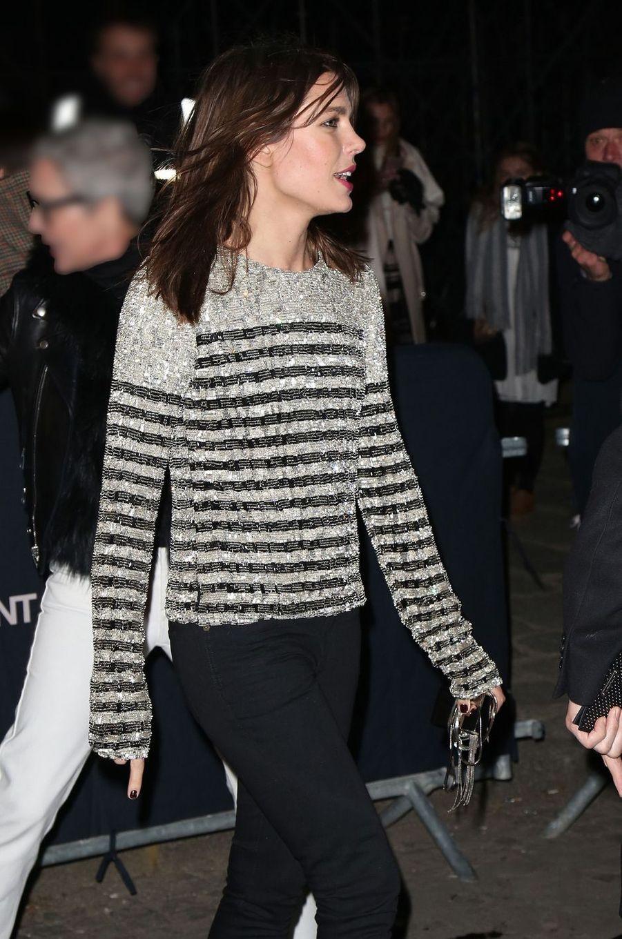 Charlotte Casiraghi à Paris, le 27 février 2018