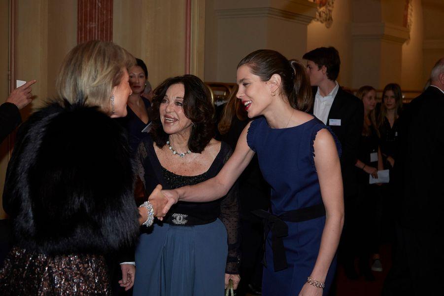 Charlotte Casiraghi avec la princesse Astrid de Belgique et Albina du Boisrouvray à Bruxelles, le 30 janvier 2016