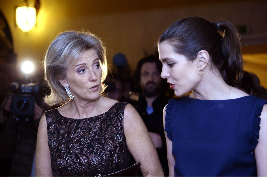 Charlotte Casiraghi et la princesse Astrid de Belgique à Bruxelles, le 30 janvier 2016