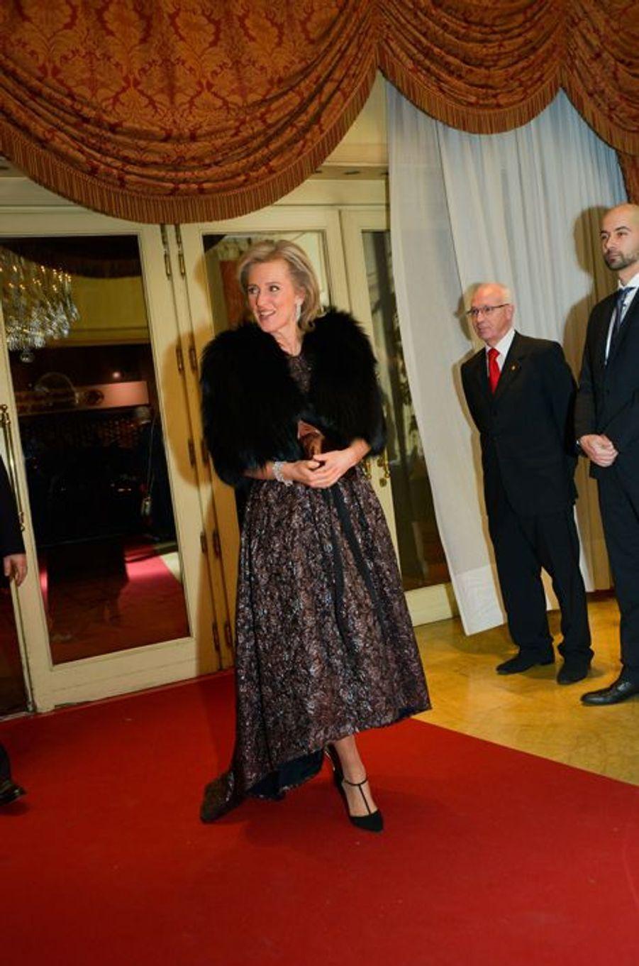 La princesse Astrid de Belgique à Bruxelles, le 30 janvier 2016
