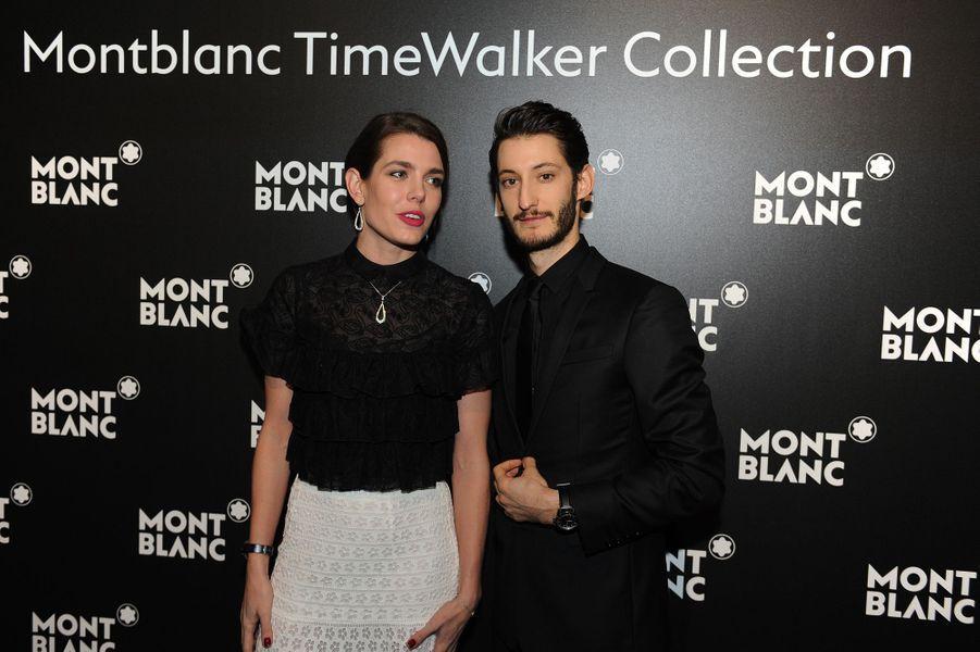 Charlotte Casiraghi et Pierre Niney à Genève, le 16 janvier 2017