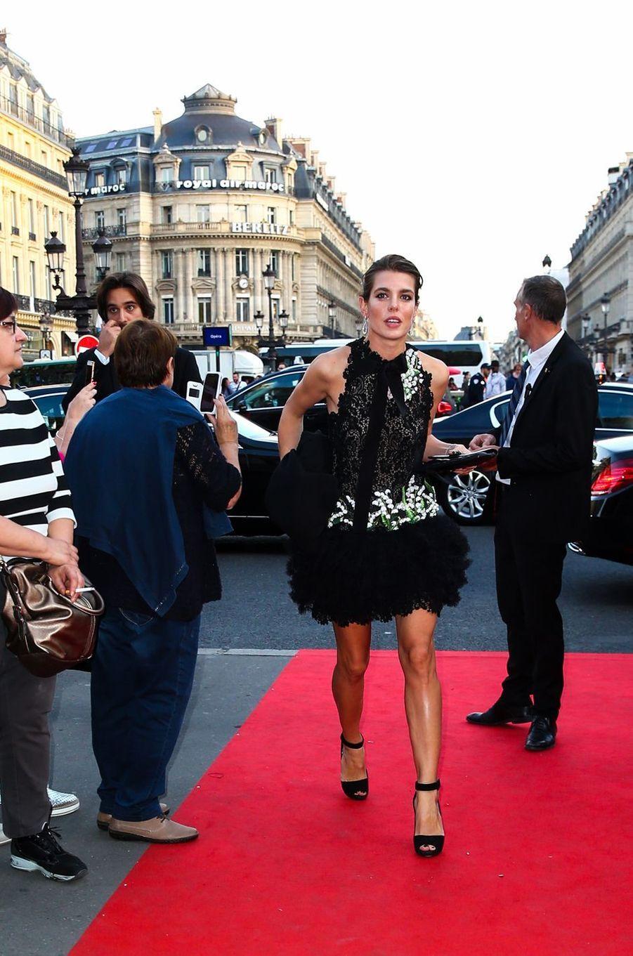 Charlotte Casiraghi arrive à l'Opéra Garnier à Paris, le 21 septembre 2017