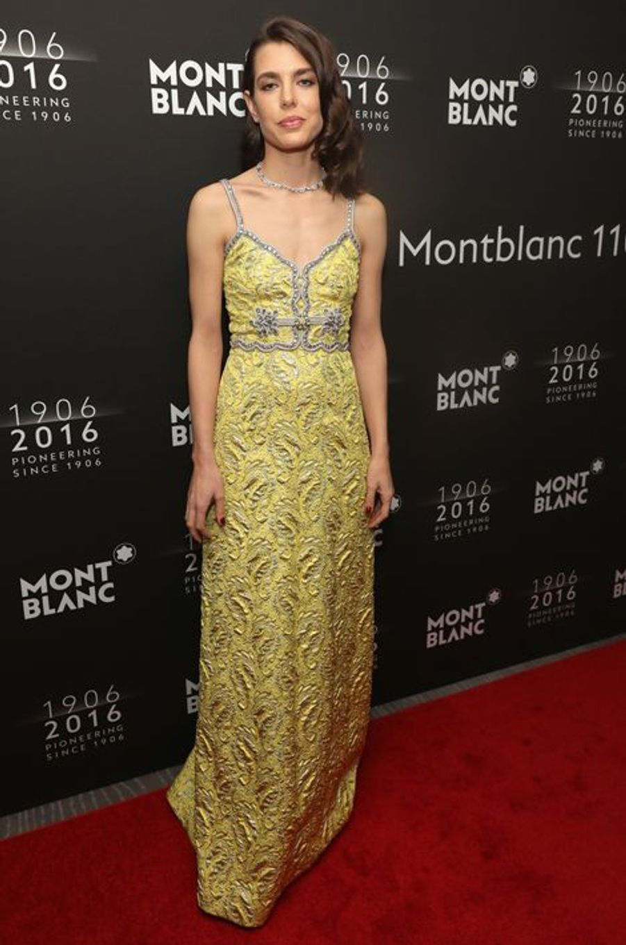 Charlotte Casiraghi au dîner de gala Montblanc à New York, le 5 avril 2016