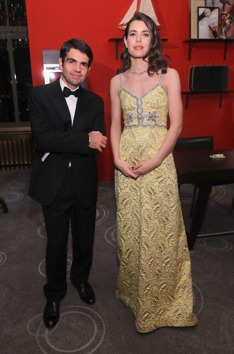 Charlotte Casiraghi et Jérôme Lambert au dîner de gala Montblanc à New York, le 5 avril 2016