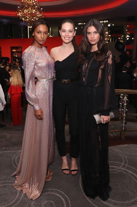 Jasmine Tookes, Emily DiDonato et Sara Sampaio au dîner de gala Montblanc à New York, le 5 avril 2016