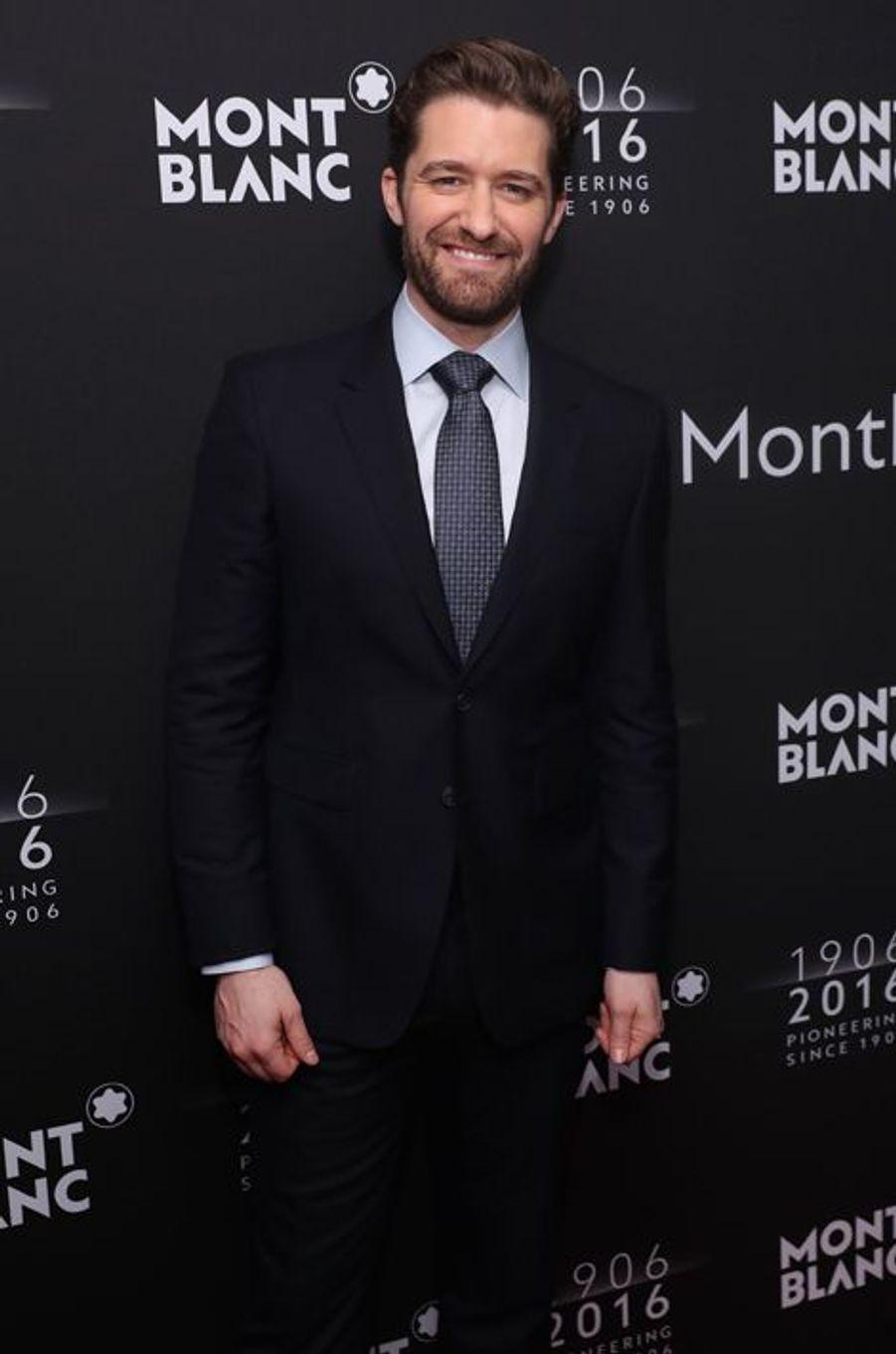 Matthew Morrison au dîner de gala Montblanc à New York, le 5 avril 2016