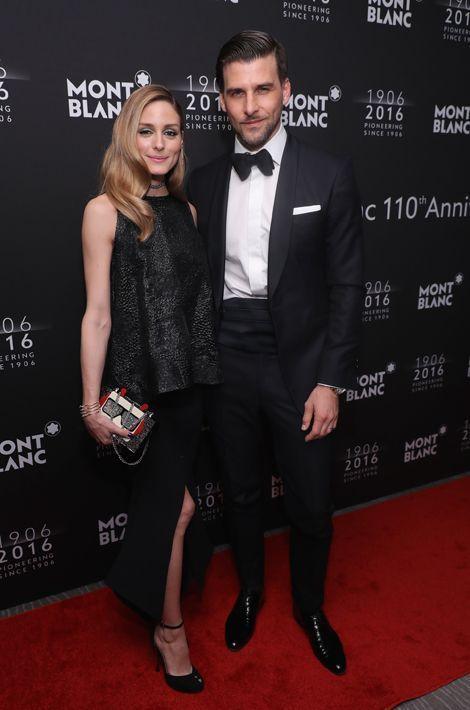 Olivia Palermo et Johannes Huebl au dîner de gala Montblanc à New York, le 5 avril 2016