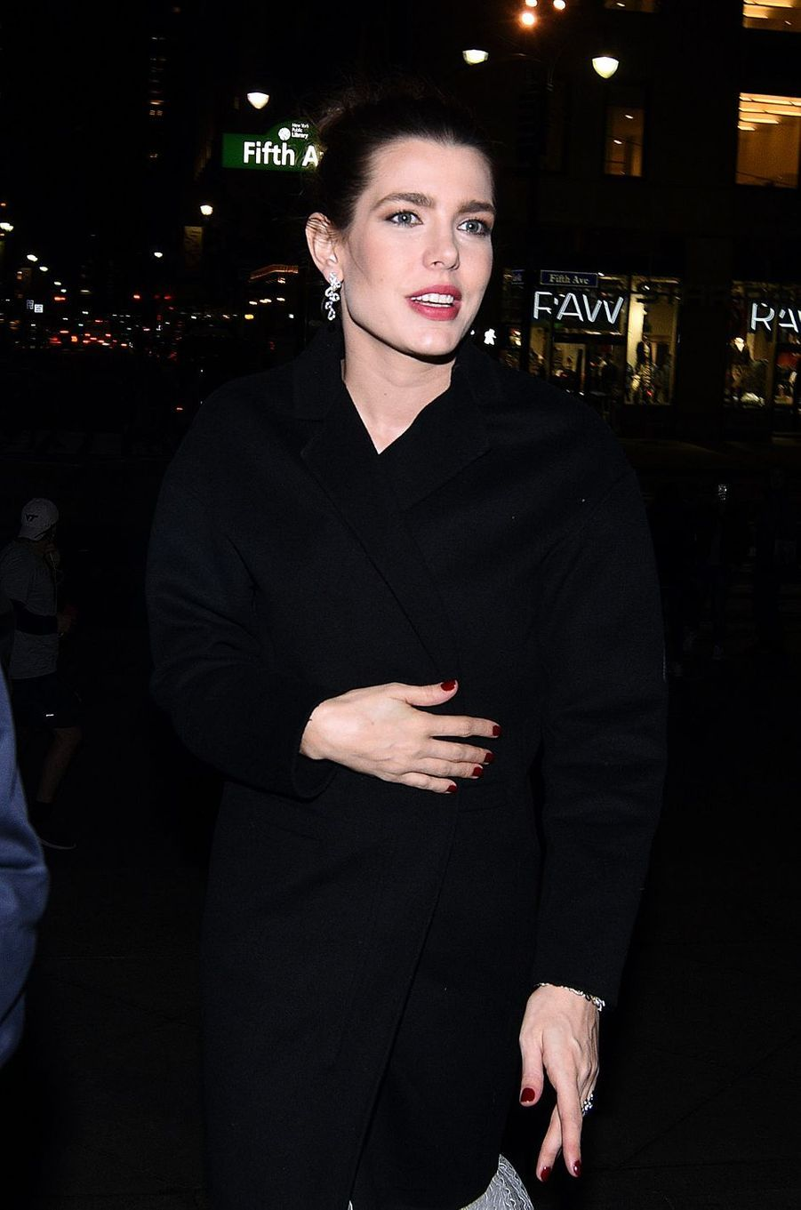Charlotte Casiraghi à New York, le 3 avril 2017
