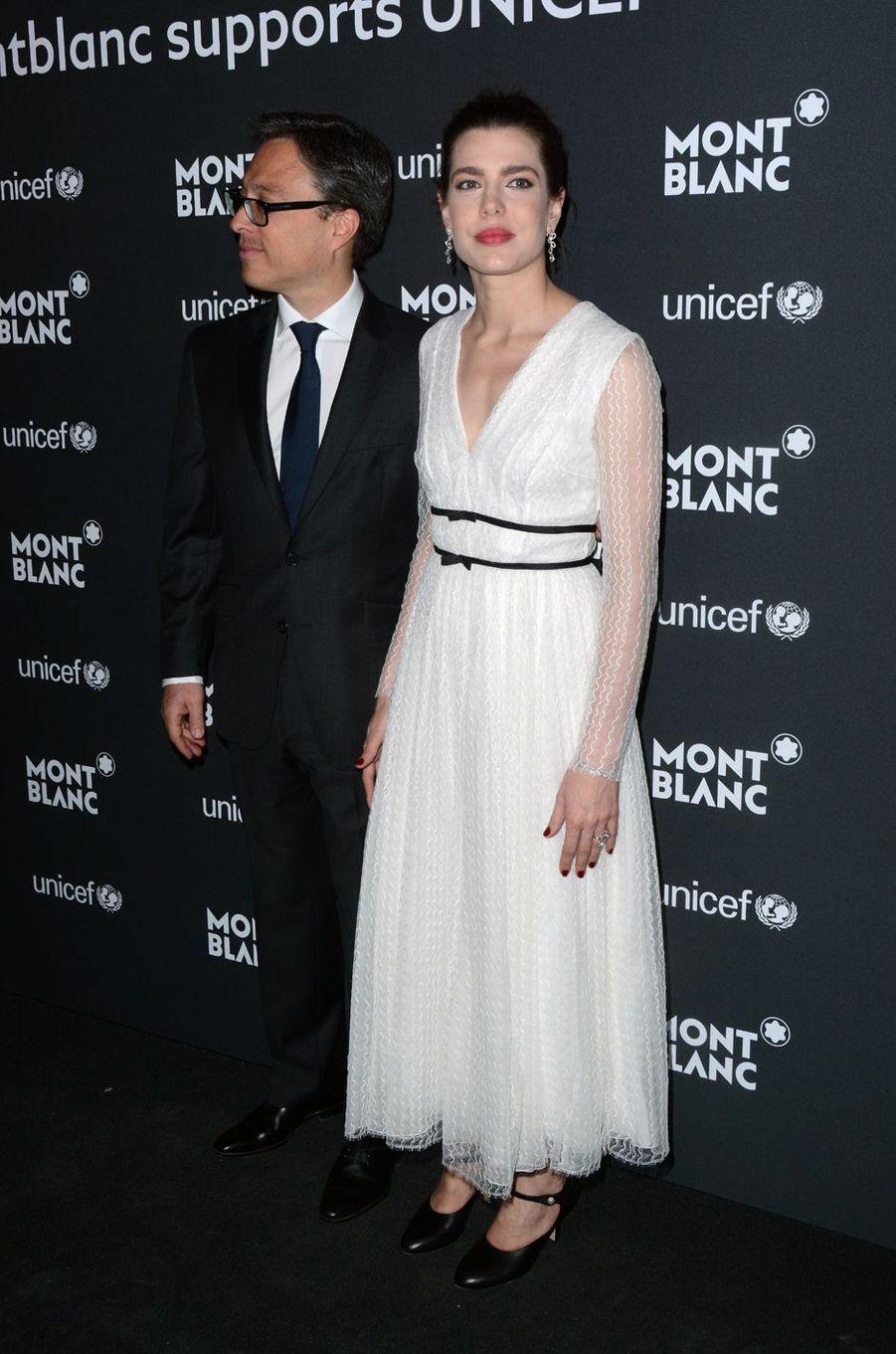 Charlotte Casiraghi avec Nicolas Baretzki à New York, le 3 avril 2017