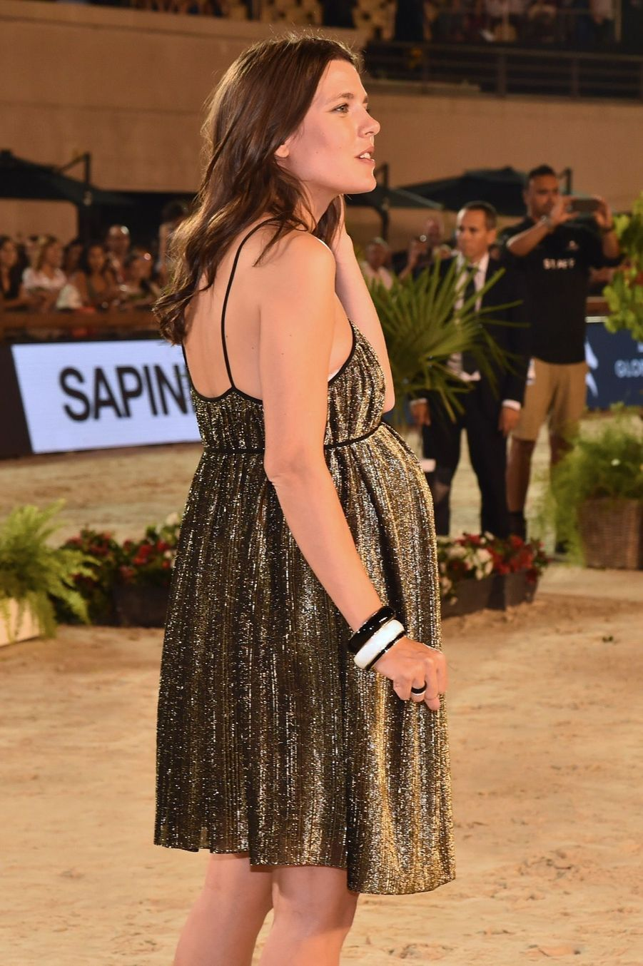 Charlotte Casiraghi Très Enceinte Au Jumping International De Monte Carlo ( 1