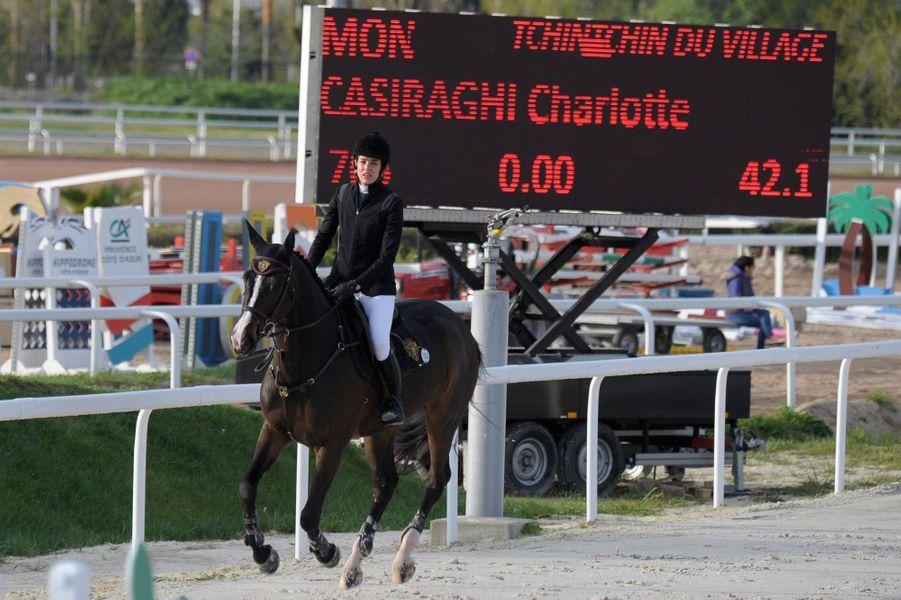 Charlotte Casiraghi à Cagnes-sur-Mer, le 31 mars 2016