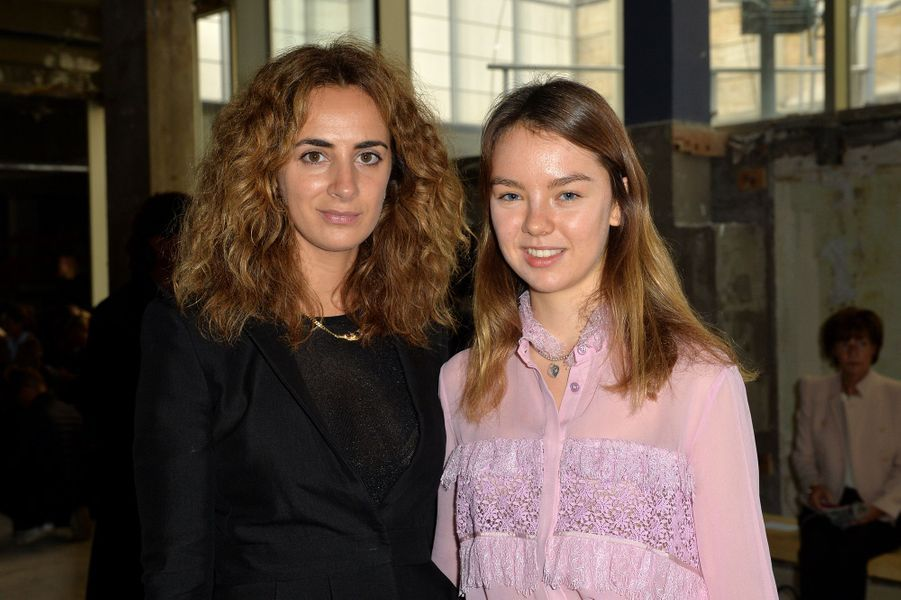 La princesse Alexandra de Hanovre avec Alexia Niedzielski à Paris, le 2 octobre 2017