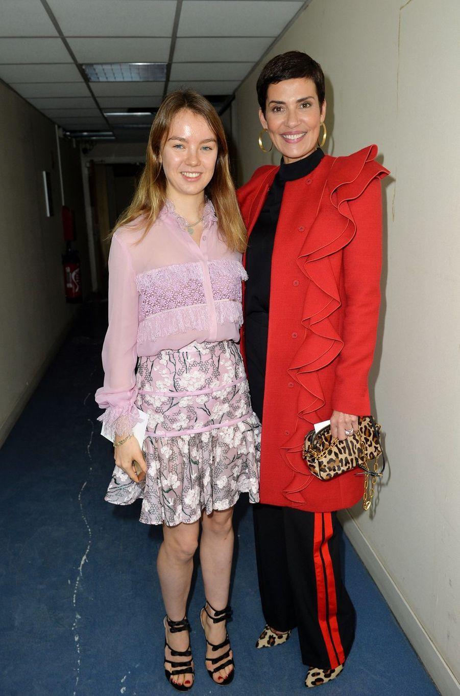 La princesse Alexandra de Hanovre avec Cristina Cordula à Paris, le 2 octobre 2017