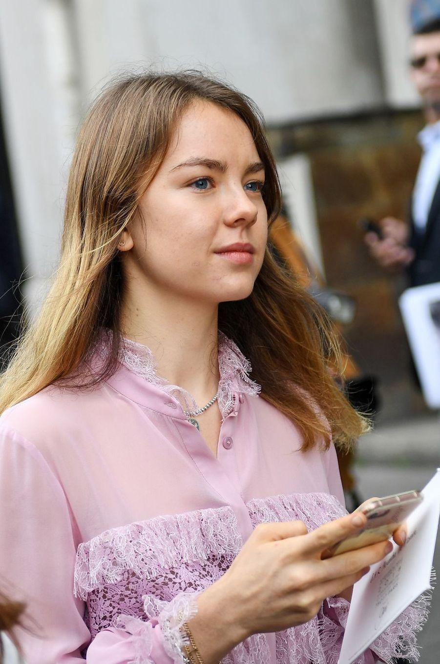 La princesse Alexandra de Hanovre à Paris, le 2 octobre 2017