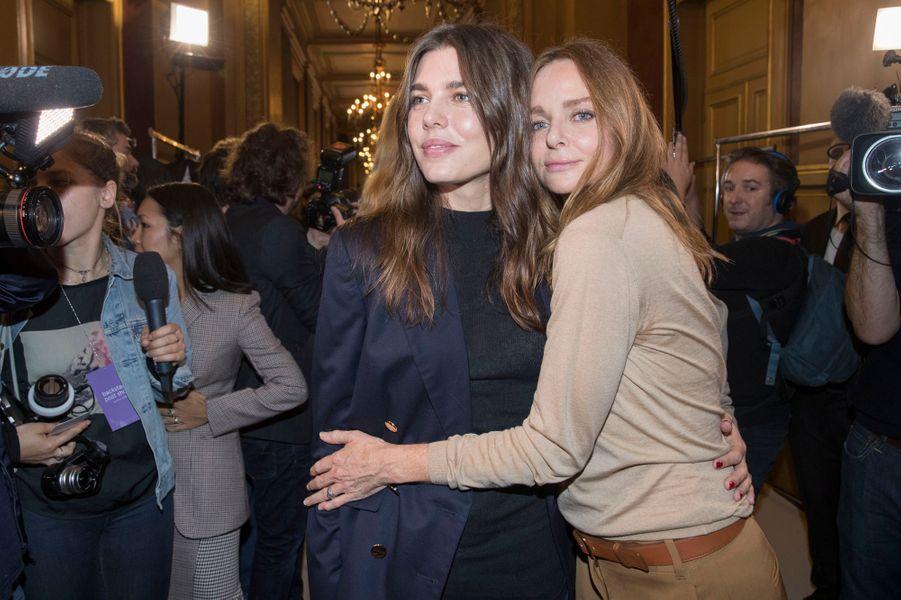 Charlotte Casiraghi avec Stella McCartney à Paris, le 2 octobre 2017