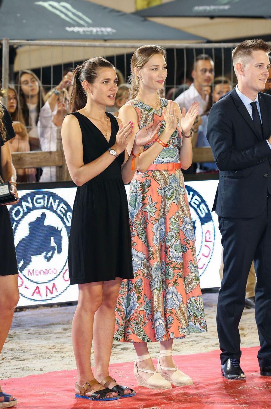 Charlotte Casiraghi et sa belle-soeur Beatrice Borromeo à Monaco, le 23 juin 2017