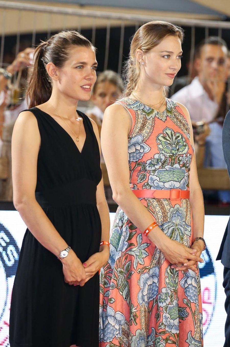 Charlotte Casiraghi et Beatrice Borromeo à Monaco, le 23 juin 2017