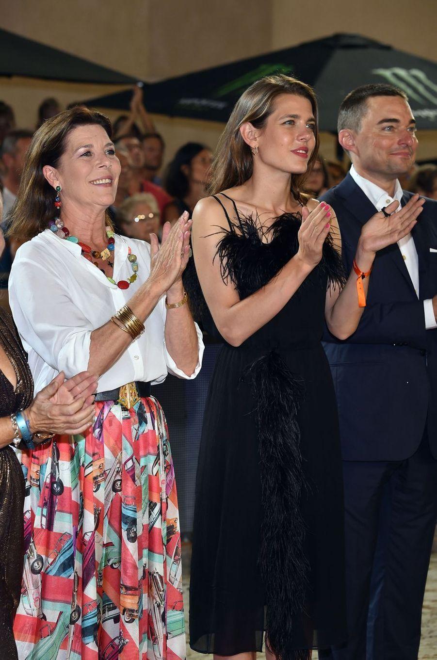 Charlotte Casiraghi et sa mère la princesse Caroline de Hanovre à Monaco, le 24 juin 2017