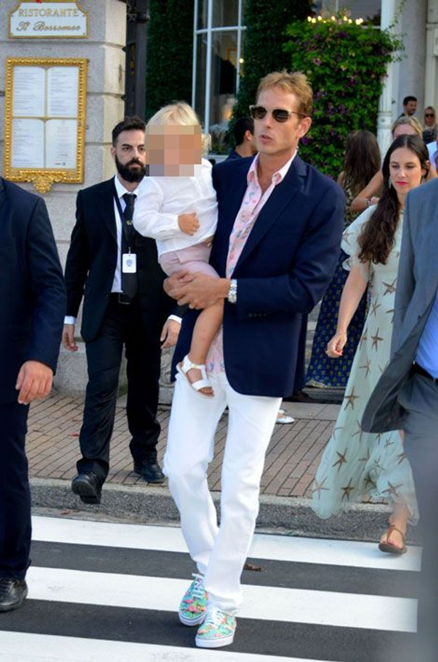 Andrea Casiraghi avec son fils Sacha