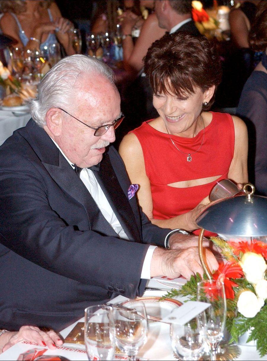 Elizabeth-Ann de Massy avec son oncle le prince Rainier III de Monaco, le 12 juillet 2002