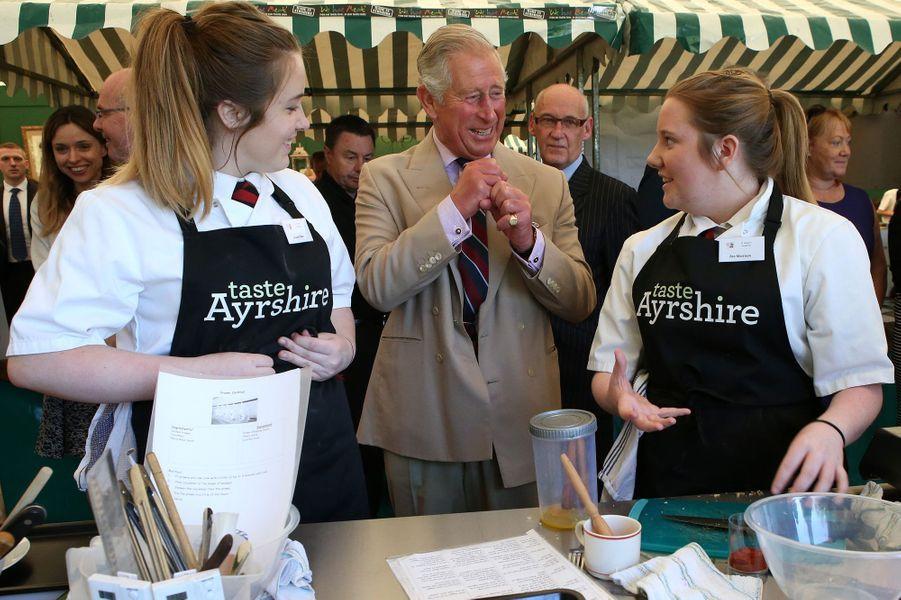 Le prince Charles à Dumfries House en Ecosse, le 8 septembre 2015