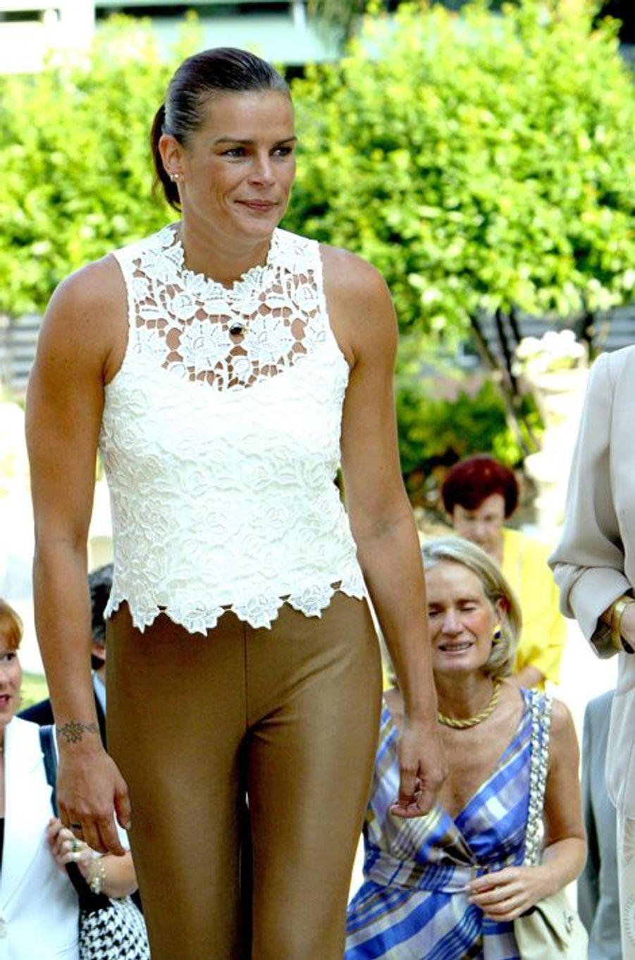 La princesse Stéphanie de Monaco le 2 juillet 2002