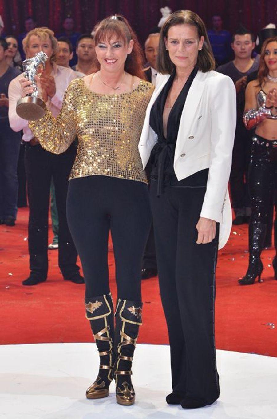 La princesse Stéphanie de Monaco le 21 janvier 2014