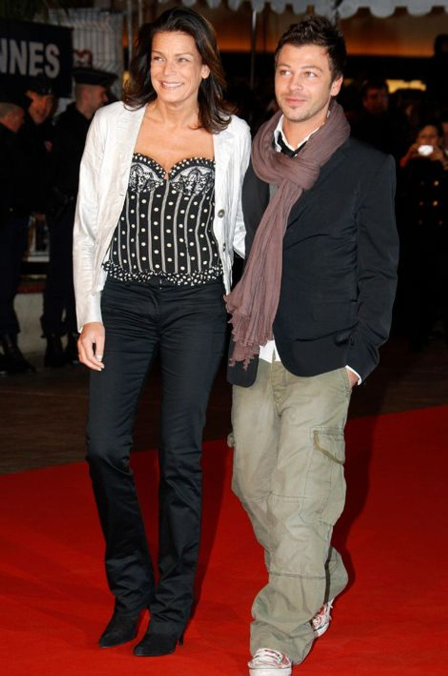 La princesse Stéphanie de Monaco le 26 janvier 2008, avec Christophe Maë