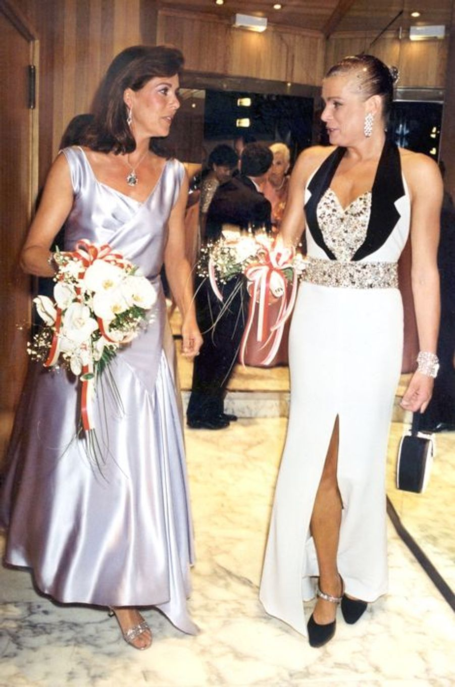 La princesse Stéphanie de Monaco le 5 août 2000, avec la princesse Caroline