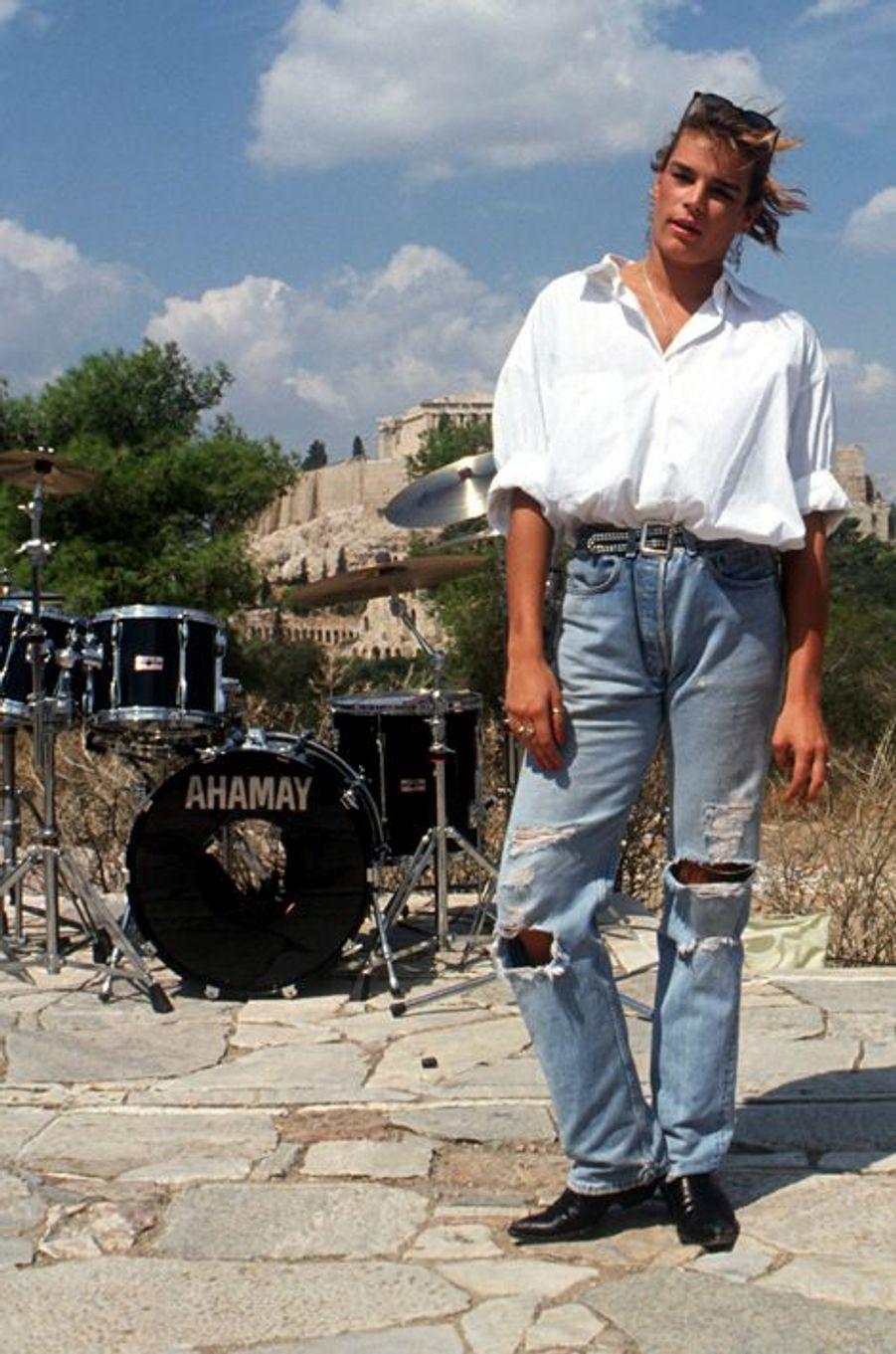 La princesse Stéphanie de Monaco le 5 octobre 1990