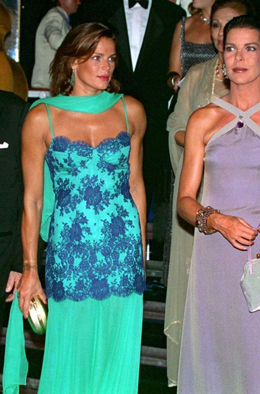 La princesse Stéphanie de Monaco le 9 août 1997, avec la princesse Caroline