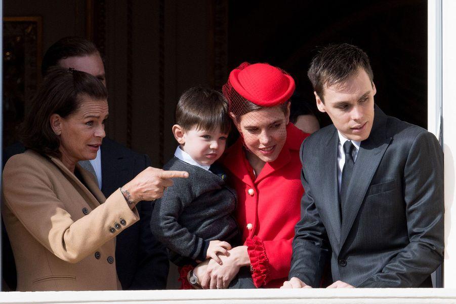 Stéphanie de Monaco, Charlotte avec son fils Raphaël et Louis Ducruet, le fils de Stéphanie
