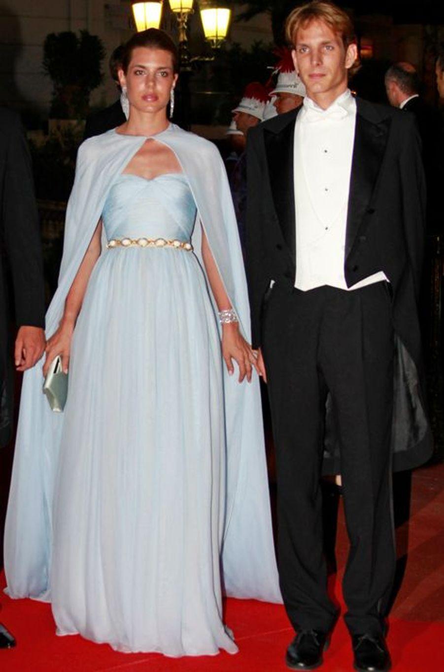 Charlotte Casiraghi avec Andrea Casiraghi, le 2 juillet 2011